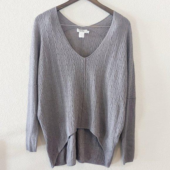 Neiman Marcus Sweaters - Neiman Marcus Grey Wool & Silk Sweater Small